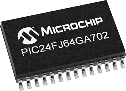 PIC24FJ64GA702-I/SS, 16bit PIC Microcontroller, 32MHz, 64 kB Flash, 28-Pin SSOP product photo