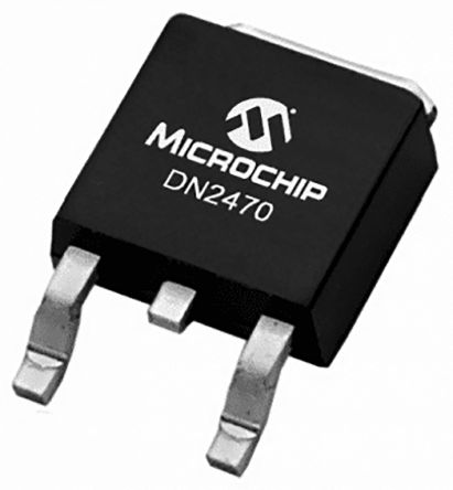 DN2470K4-G Dual N-Channel MOSFET, 170 mA, 700 V Depletion DN2470, 4-Pin DPAK Microchip Technology