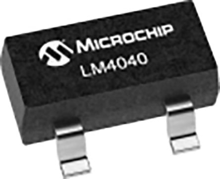 Microchip LM4040DYM3-2.5-TR, Shunt Precision Voltage Reference 2.5V, ±1% 3-Pin, SOT-23