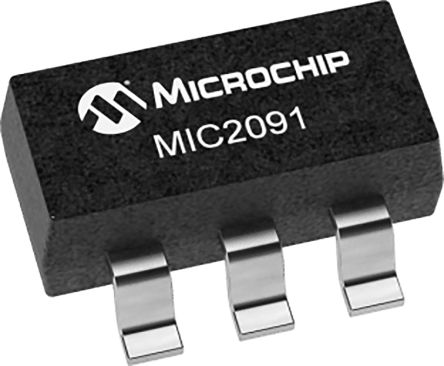 Microchip MIC2091-1YM5-TR, 1 Power Control Switch, Current Limiting Power Distribution Switch 5-Pin, SOT-23