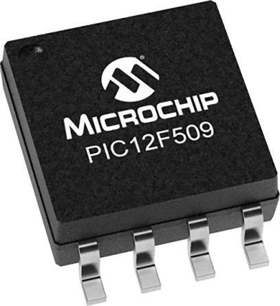 Microchip PIC12F509T-I/SN, 8bit PIC Microcontroller, PIC12F, 20MHz, 1.5 kB Flash, 8-Pin SOIC