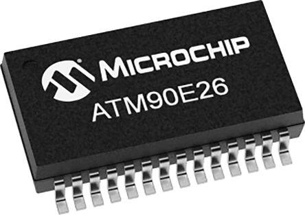 ATM90E26-YU-R, Analogue Front End IC, 3-Channel 16 bit, 8kHz, 28-Pin SSOP