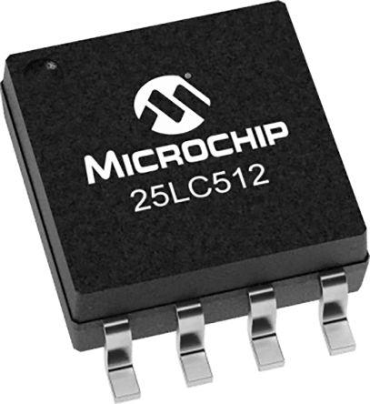 64K x 8bit SPI SOIC 20 MHz 512 Kbit EEPROM 8 Pins