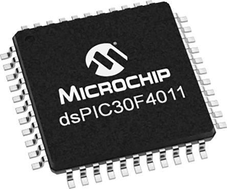 DSPIC30F4011-20I/PT Microchip DSPIC30F4011, 16bit Digital Signal Processor 120MHz 48 kB Flash 44-Pin TQFP
