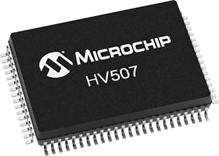 Microchip HV507PG-G 18 64-stage Shift Register, Serial to Parallel Converter, 80-Pin PQFN