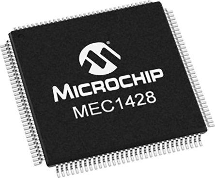 Microchip MEC1428-I/NU-C1, IO Controller 1-USB, PCI, ACPI, DMA, 128-Pin VTQFP