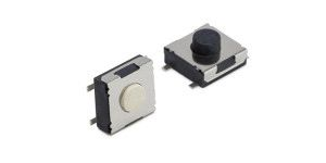 Black Tactile Switch, Single Pole Single Throw (SPST) 50 mA 5mm Surface Mount