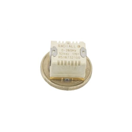 SPDT PCB Mount, High Frequency RF Relay, 8GHz 24V dc