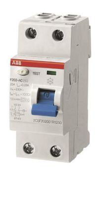 ABB 2 Pole Type A Residential RCCBs, 100A F200, 30mA