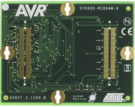 Microchip Technology ATSTK600-RC09 for use with 64-pin MegaAVR in TQFP Socket
