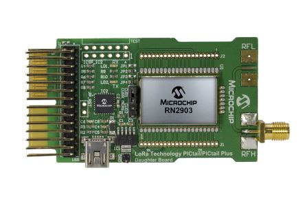 Microchip Technology RN2903 LoRa® Technology PICtail™/PICtail Plus Daughter  Board 915MHz LoRa Daughter Board