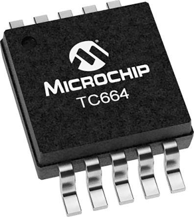 Microchip TC664EUNTR Fan Controller IC 10-Pin, MSOP