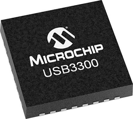 Microchip USB3300-EZK-TR, USB Transceiver, OTG, USB 2.0, UTMI + ULPI 3-Port, 3.3 V, 32-Pin QFN