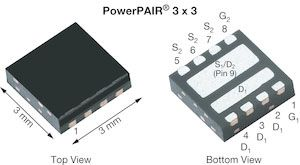 Dual N-Channel MOSFET, 30 A, 30 V, 8-Pin PowerPAIR 3 x 3 Vishay Siliconix SiZ348DT-T1-GE3