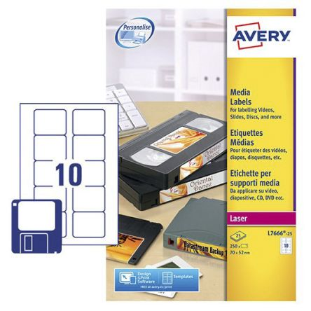l7666 25 avery avery white address label pack of 25 178 4174