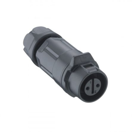 Lumberg 02 Series Cable Mount Circular Connector, 7 Pole Socket