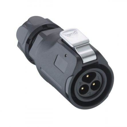 Lumberg 02 Series Cable Mount Circular Connector, 4 Pole Plug