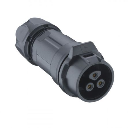 Lumberg 02 Series Cable Mount Circular Connector, 2 Pole Socket