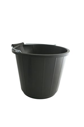 14L Plastic Black Bucket With Handle product photo