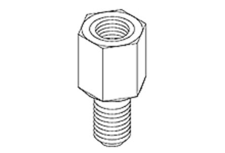 UNC-2A, UNC-2B Hex Screw Suitable For Wire-to-Board Receptacle for use with 71182 MicroCross DVI Connectors and Cable
