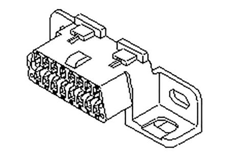 Molex Male Crimp Connector Housing, 4mm Pitch, 16 Way, 2 Row