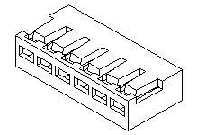 35023-0005 - Molex Male Crimp Connector Housing -, 2mm Pitch, 5 Way, 1 Row