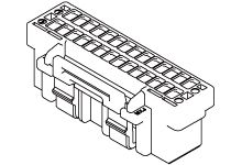 Molex Female Crimp Connector Housing, 1.5mm Pitch, 12 Way, 2 Row