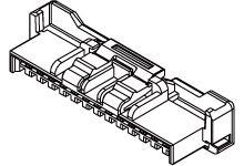 502439-0400 - Molex Female Crimp Connector Housing -, 2mm Pitch, 4 Way, 1 Row