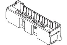 Molex CLIK-Mate Series 502584 Series Number 1.5mm Pitch 6 Way 1 Row Vertical PCB Socket, Surface Mount, Crimp