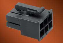 46992-0610 - Molex Male Crimp Connector Housing -, 4.2mm Pitch, 6 Way, 2 Row