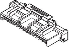 502578-0300 - Molex Female Crimp Connector Housing -, 1.5mm Pitch, 3 Way, 1 Row