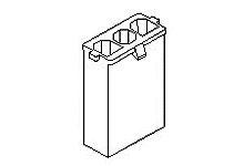 Molex Female Crimp Connector Housing, 7.5mm Pitch, 2 Way, 1 Row