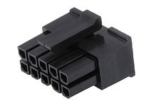 Molex Male Crimp Connector Housing, 3mm Pitch, 10 Way, 2 Row