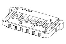 504051-0801 - Molex Male Connector Housing -, 1.5mm Pitch, 8 Way, 1 Row