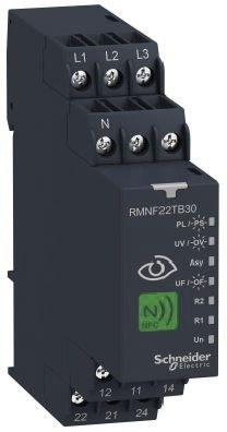 Schneider Electric Frequency, Voltage Monitoring Relay, 3 Phase, 208 → 480 V ac