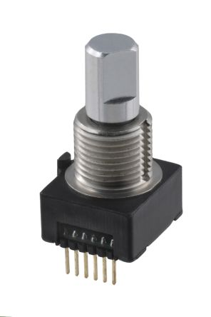 CTS 8 Pulse Mechanical Rotary Encoder with a 6 35 mm Flat Shaft, Through  Hole