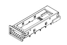 74736 Series 1 x 1 Port Cage, Press-Fit Termination product photo