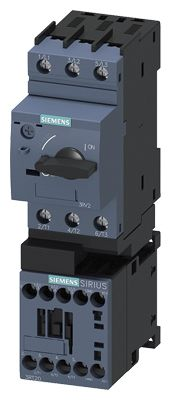 Siemens Starter for use with 3RA21 Screw Fixing, 3RA21 Snapping Onto Standard Mounting Rail