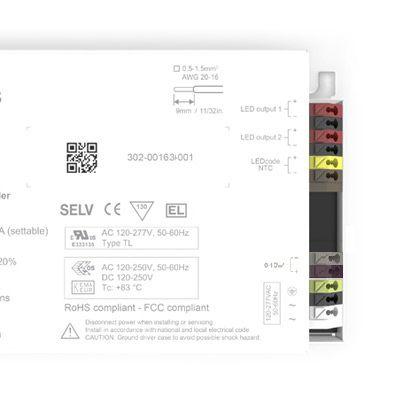 eldoLED SL0561S4, Constant Current 0-10 V LED Driver 50 W 1.5 → 55 V 150 → 1400 mA, SOLOdrive Series