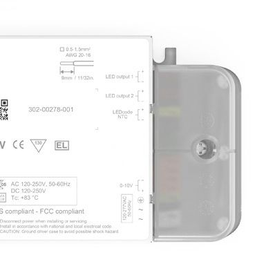 eldoLED SL0561A4, Constant Current 0-10 V LED Driver 50 W 1.5 → 55 V 150 → 1400 mA, SOLOdrive Series