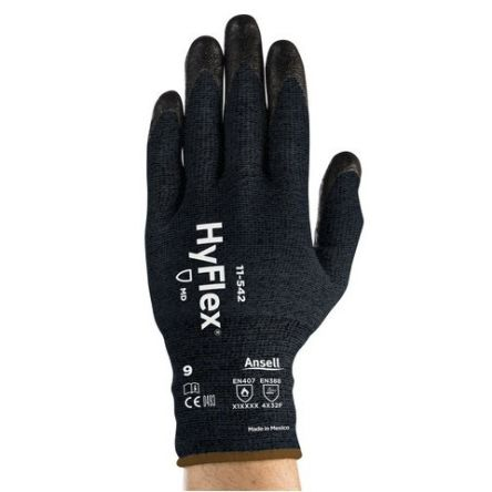 Ansell HyFlex Chemical Resistant Gloves, size 9, Black