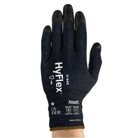 Ansell HyFlex Eldivenler, 10, Siyah