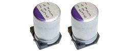 Panasonic Aluminium Polymer Capacitor 15μF 100V dc 8mm Solder SXV Series, Surface Mount Polymer, ±20% 8 Dia. x 11.9mm