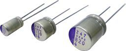 Panasonic 100μF 16V dc Aluminium Polymer Capacitor, Through Hole 6.3 Dia. x 6mm +105°C 6.3mm 2.5mm