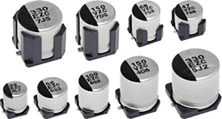 Panasonic 270μF 35V dc Hybrid Conductive Polymer Aluminium Capacitor, Surface Mount 10 Dia. x 10.2mm +125°C 10mm