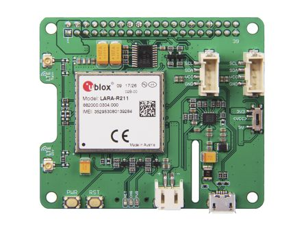 Seeed Studio LTE Cat 1 Pi HAT (Europe) Development Board for LARA-R211 for Raspberry Pi 1 Model B+