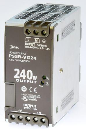 Idec, PS5R DIN Rail Panel Mount Power Supply, 24V dc Output Voltage, 10A  output current