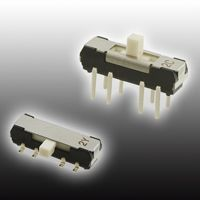 Surface Mount Slide Switch DP3T 200 (Non-Switching) mA, 200 (Switching) mA Slide
