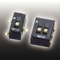Surface Mount DIP Switch Single Pole Double Throw (SPDT) 100 (Non-Switching) mA, 100 (Switching) mA Slide