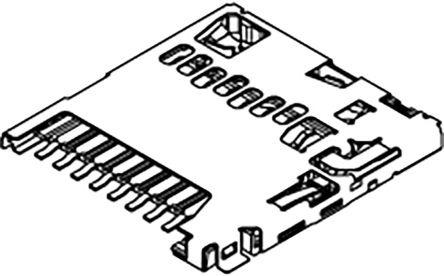503398 Series 8 Way Push/Push Micro SD Memory Card Connector With Solder Termination product photo